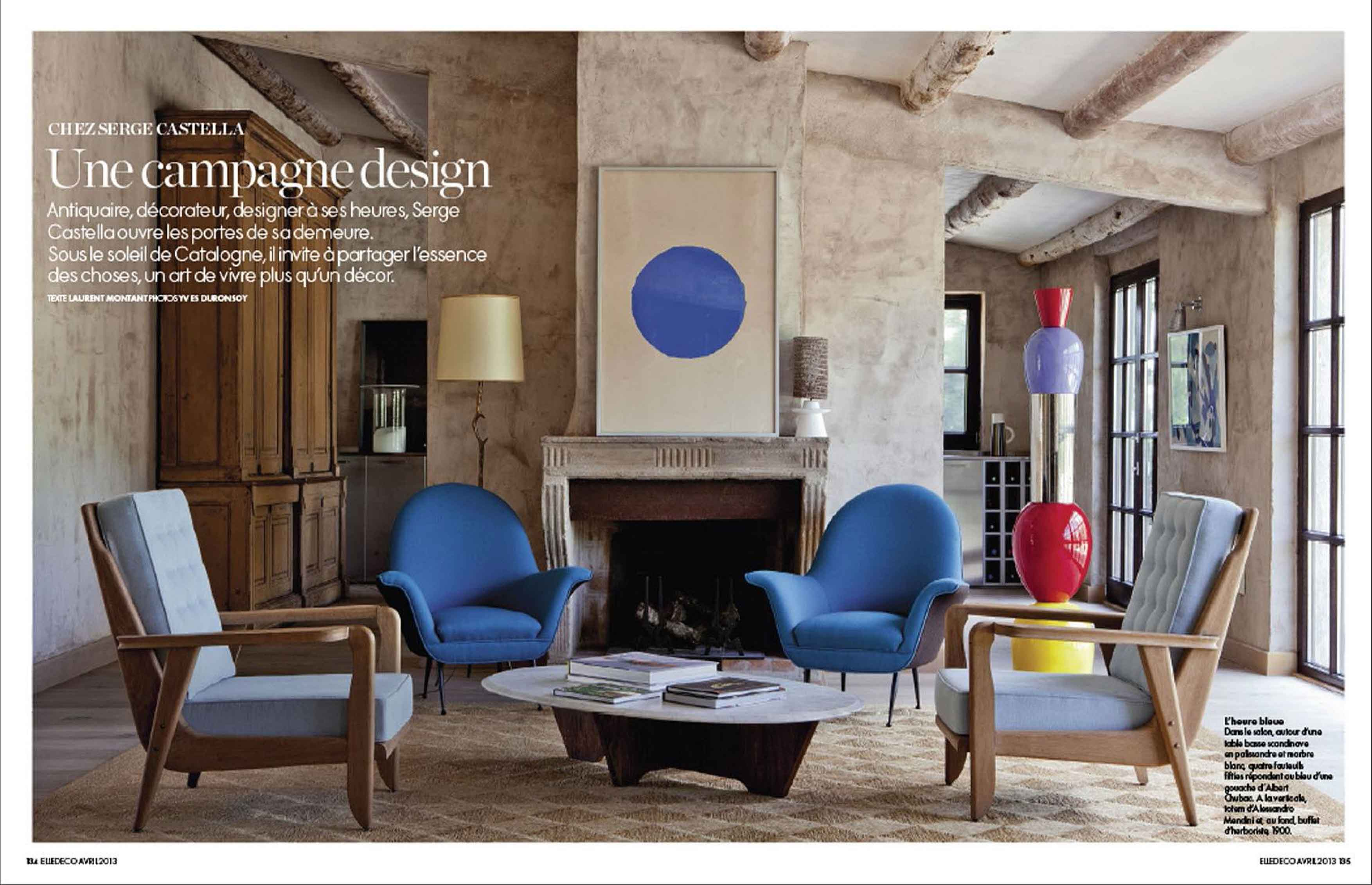 Elle deco france 01 serge castella for Elle decoration france
