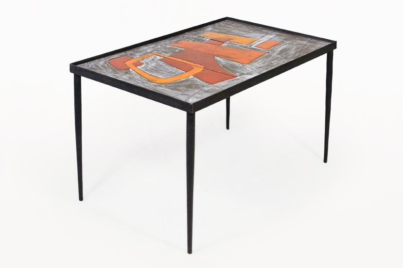 Pair of Robert and Jean Cloutier Ceramic Coffee Tables circa 1960